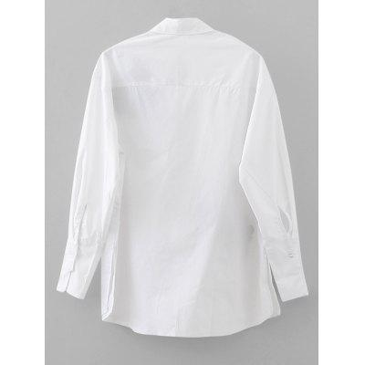 Embroidered Loose Button Down ShirtBlouses<br>Embroidered Loose Button Down Shirt<br><br>Collar: Shirt Collar<br>Embellishment: Embroidery<br>Material: Cotton, Polyester<br>Occasion: Casual<br>Package Contents: 1 x Shirt<br>Pattern Type: Floral<br>Seasons: Autumn,Spring<br>Shirt Length: Regular<br>Sleeve Length: Full<br>Style: Fashion<br>Weight: 0.3000kg