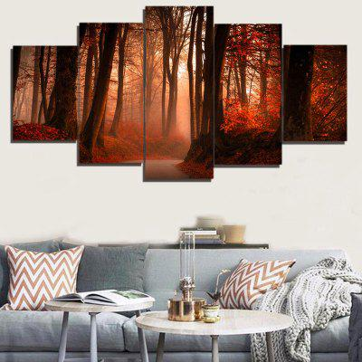 Buy BROWN Maple Forest Pattern Unframed Canvas Paintings for $12.93 in GearBest store