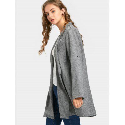 Rolled Cuff Sleeve Heathered CoatJackets &amp; Coats<br>Rolled Cuff Sleeve Heathered Coat<br><br>Collar: Lapel<br>Material: Polyester<br>Package Contents: 1 x Coat<br>Pattern Type: Others<br>Shirt Length: Long<br>Sleeve Length: Full<br>Style: Fashion<br>Type: Slim<br>Weight: 0.4100kg