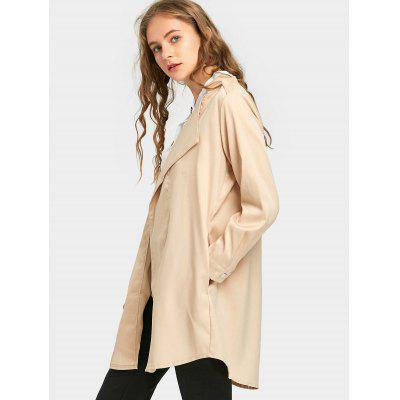 Lapel Slim Fit CoatJackets &amp; Coats<br>Lapel Slim Fit Coat<br><br>Collar: Lapel<br>Material: Polyester<br>Package Contents: 1 x Coat<br>Pattern Type: Solid<br>Shirt Length: Long<br>Sleeve Length: Full<br>Style: Fashion<br>Type: Slim<br>Weight: 0.4700kg
