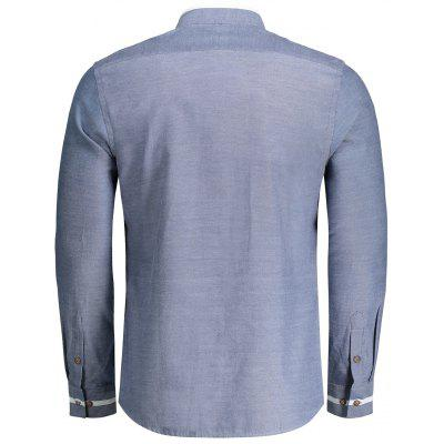 Mens Button Up Stand Neck ShirtMens Shirts<br>Mens Button Up Stand Neck Shirt<br><br>Collar: Stand Collar<br>Material: Polyester<br>Package Contents: 1 x Shirt<br>Shirts Type: Casual Shirts<br>Sleeve Length: Full<br>Weight: 0.3700kg