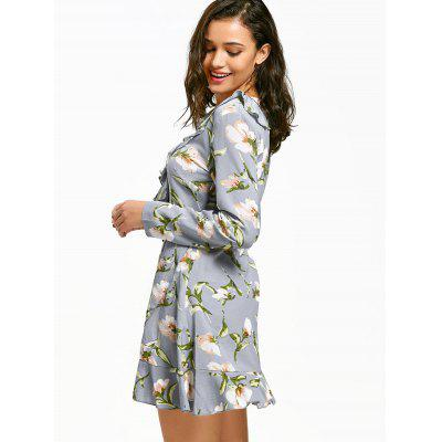 V Neck Ruffle Trim Floral Print DressWomens Dresses<br>V Neck Ruffle Trim Floral Print Dress<br><br>Dresses Length: Mini<br>Material: Polyester<br>Neckline: V-Neck<br>Occasion: Casual , Going Out<br>Package Contents: 1 x Dress<br>Pattern Type: Floral<br>Season: Fall<br>Silhouette: A-Line<br>Sleeve Length: Long Sleeves<br>Style: Brief<br>Weight: 0.2950kg<br>With Belt: No