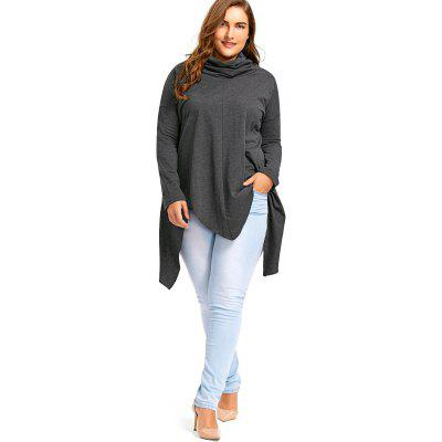 Plus Size Drop Shoulder Long Sleeve Handkerchief T-shirtPlus Size Tops<br>Plus Size Drop Shoulder Long Sleeve Handkerchief T-shirt<br><br>Collar: Heaps Collar<br>Material: Cotton, Polyester<br>Package Contents: 1 x T-shirt<br>Pattern Type: Solid<br>Season: Spring, Winter, Fall<br>Shirt Length: Long<br>Sleeve Length: Full<br>Style: Casual<br>Weight: 0.5500kg