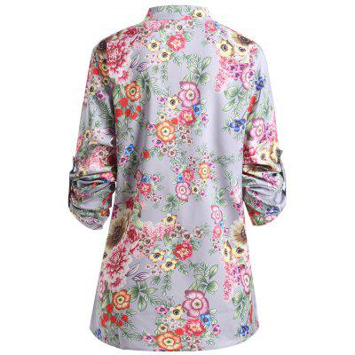Plus Size Floral Print Pleated BlousePlus Size Tops<br>Plus Size Floral Print Pleated Blouse<br><br>Collar: Stand-Up Collar<br>Material: Polyester<br>Package Contents: 1 x Blouse<br>Pattern Type: Floral<br>Season: Spring, Fall<br>Shirt Length: Regular<br>Sleeve Length: Full<br>Style: Fashion<br>Weight: 0.2150kg