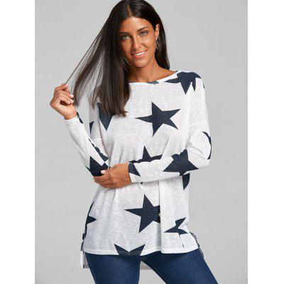 Sheer Star Graphic SweaterSweaters &amp; Cardigans<br>Sheer Star Graphic Sweater<br><br>Collar: Crew Neck<br>Material: Polyester, Spandex<br>Package Contents: 1 x Sweater<br>Pattern Type: Star<br>Season: Spring, Fall<br>Sleeve Length: Full<br>Style: Fashion<br>Type: Pullovers<br>Weight: 0.2700kg