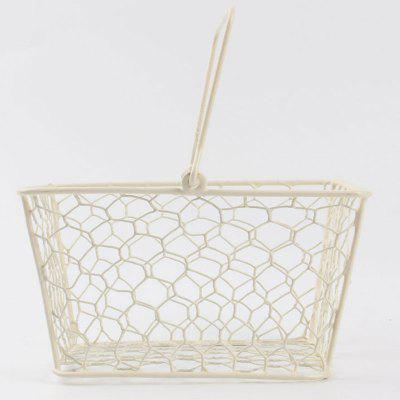 Household Metal Portable Handle Storage Basket