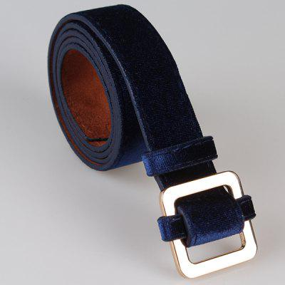 Metal Square Buckle Decorated Skinny BeltWomens Belts<br>Metal Square Buckle Decorated Skinny Belt<br><br>Belt Length: 100CM<br>Belt Material: Suede<br>Belt Silhouette: Skinny Belt<br>Belt Width: 3CM<br>Gender: For Women<br>Group: Adult<br>Package Contents: 1 x Belt<br>Pattern Type: Others<br>Style: Vintage<br>Weight: 0.1030kg