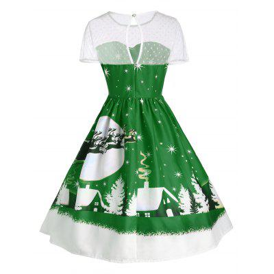 Santa Claus Deer Christmas Vintage DressWomens Dresses<br>Santa Claus Deer Christmas Vintage Dress<br><br>Dresses Length: Mid-Calf<br>Material: Polyester<br>Neckline: Round Collar<br>Package Contents: 1 x Dress<br>Pattern Type: Print<br>Season: Fall, Winter<br>Silhouette: Ball Gown<br>Sleeve Length: Short Sleeves<br>Style: Cute<br>Weight: 0.2400kg<br>With Belt: No