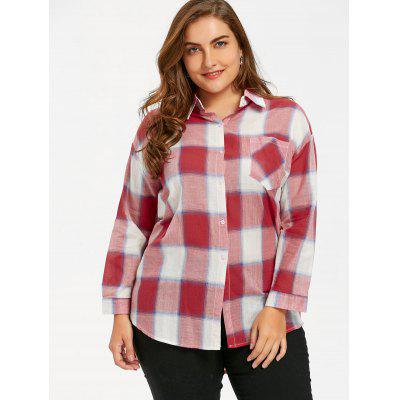 Plus Size Plaid Dip Hem ShirtPlus Size Tops<br>Plus Size Plaid Dip Hem Shirt<br><br>Collar: Shirt Collar<br>Material: Polyester<br>Package Contents: 1 x Shirt<br>Pattern Type: Plaid<br>Season: Spring, Fall<br>Shirt Length: Long<br>Sleeve Length: Full<br>Style: Casual<br>Weight: 0.2100kg