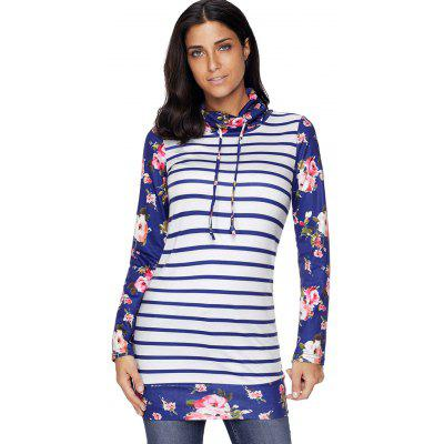 Striped and Floral Print Cowl Neck SweatshirtSweatshirts &amp; Hoodies<br>Striped and Floral Print Cowl Neck Sweatshirt<br><br>Material: Polyester, Spandex<br>Package Contents: 1 x Sweatshirt<br>Pattern Style: Floral,Striped<br>Season: Fall, Spring<br>Shirt Length: Long<br>Sleeve Length: Full<br>Style: Casual<br>Weight: 0.4700kg