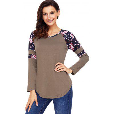 Floral Panel Raglan Sleeve Tunic TopBlouses<br>Floral Panel Raglan Sleeve Tunic Top<br><br>Collar: Scoop Neck<br>Material: Polyester, Spandex<br>Package Contents: 1 x Top<br>Pattern Type: Floral<br>Season: Fall, Spring<br>Shirt Length: Regular<br>Sleeve Length: Full<br>Sleeve Type: Raglan Sleeve<br>Style: Casual<br>Weight: 0.3000kg