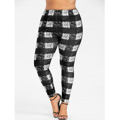 Plus Size Monochrome Plaid LeggingsPlus Size<br>Plus Size Monochrome Plaid Leggings<br><br>Closure Type: Elastic Waist<br>Fit Type: Skinny<br>Length: Normal<br>Material: Polyester<br>Package Contents: 1 x Leggings<br>Pant Style: Pencil Pants<br>Pattern Type: Plaid<br>Style: Casual<br>Waist Type: Mid<br>Weight: 0.3000kg