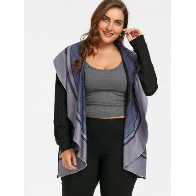Plus Size Striped Waterfall CardiganPlus Size<br>Plus Size Striped Waterfall Cardigan<br><br>Collar: Turn-down Collar<br>Material: Polyester<br>Package Contents: 1 x Cardigan<br>Pattern Type: Striped<br>Season: Spring, Fall<br>Sleeve Length: Full<br>Style: Casual<br>Type: Cardigans<br>Weight: 0.1800kg