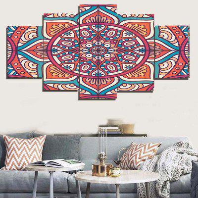 Bohemian Flower Print Unframed Split Canvas Paintings