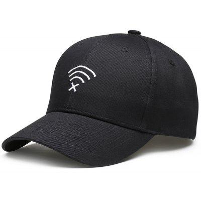 WIFI No Signal Embroidery Decorated Baseball Cap