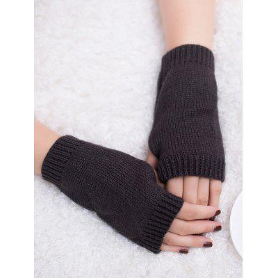 Buy DEEP GRAY Outdoor Knit Fingerless Gloves for $1.65 in GearBest store