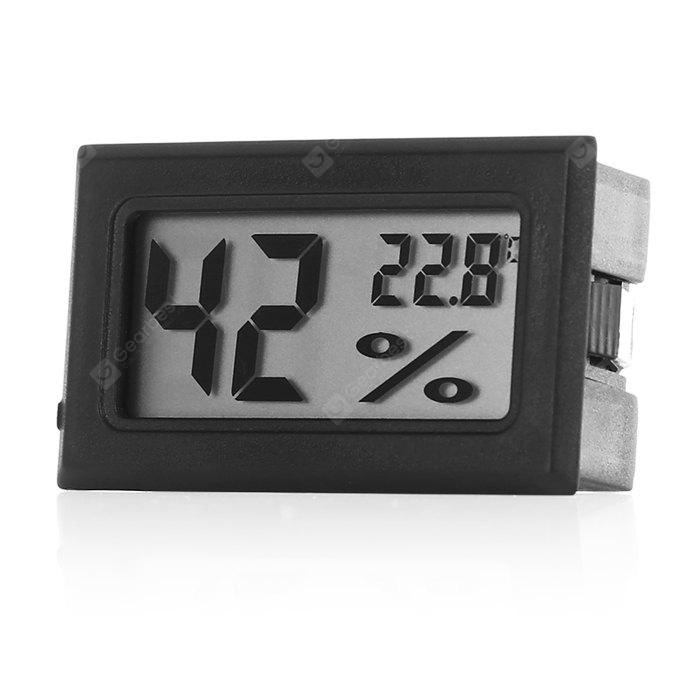 SUP4 Temperature Sensor Mini Digital LCD Thermometer Hygrometer - BLACK from Gearbest Image