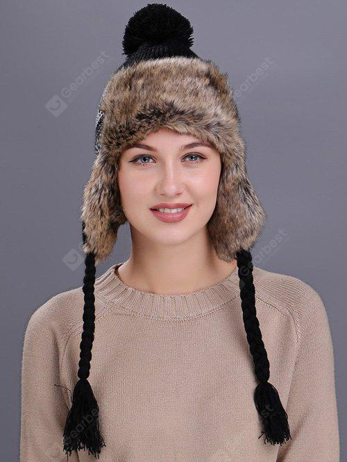 Outdoor Wave Stripe Pattern Knitted Winter Hat