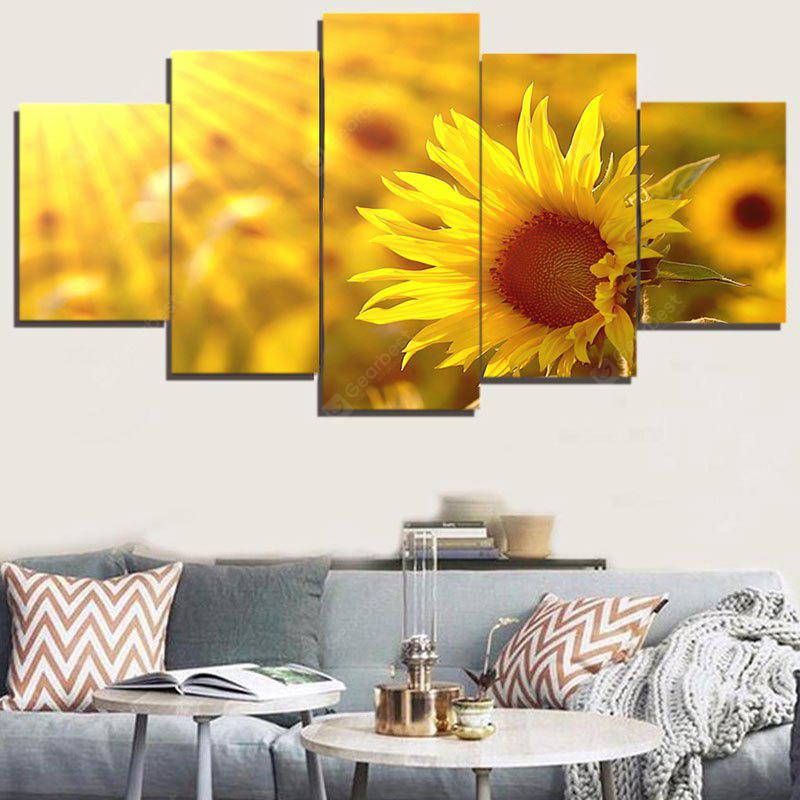 Sunflower Print Unframed Canvas Painting