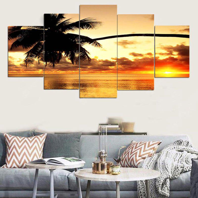 Coconut Tree Sunset Canvas Wall Art Paintings
