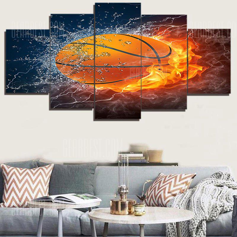 Burning Football Patterned Unframed Canvas Paintings