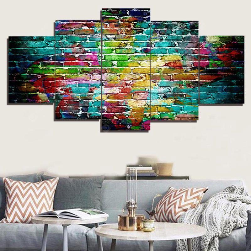 Colorful Bricks Wall Print Unframed Canvas Paintings