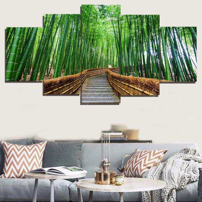 Bamboo Forest Trail Split Canvas Paintings