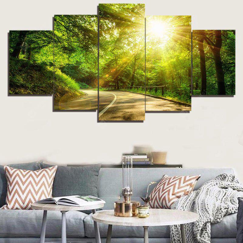 Woods Sunshine Wall Art Canvas Painting
