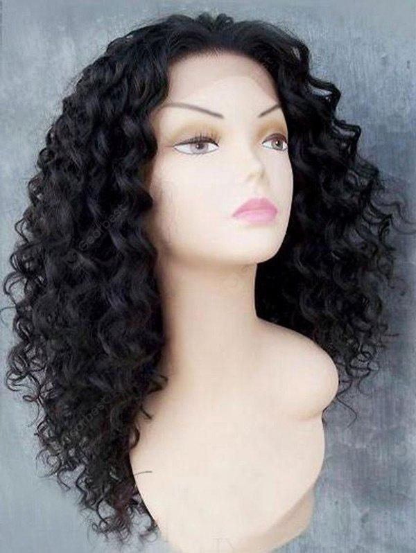 BLACK Long Free Part Shaggy Afro Kinky Curly Lace Front Synthetic Wig