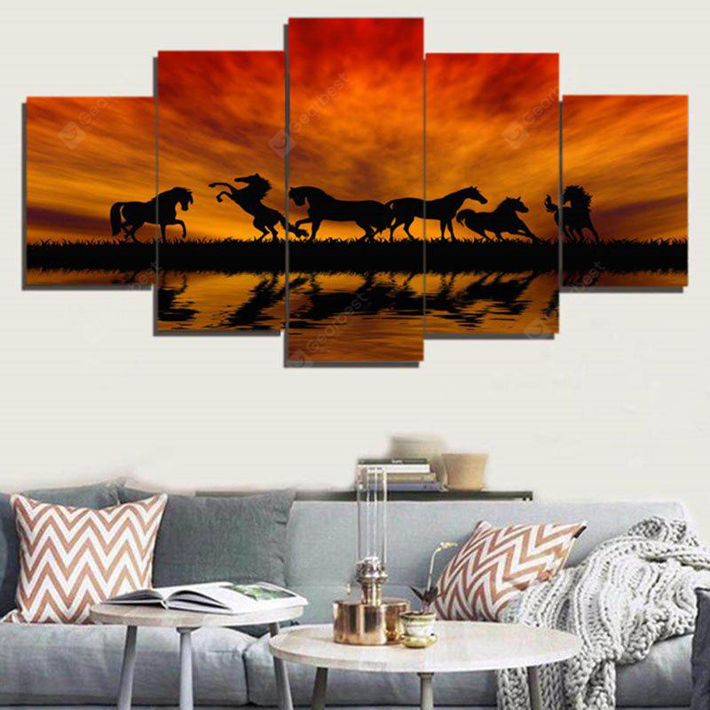 Sunset Horses Pattern Unframed Canvas Paintings