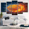 Burning Football Patterned Unframed Canvas Paintings - COLORFUL