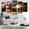 West Cowboy Suits Print Unframed Canvas Paintings - BROWN