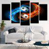 Taiji Football Print Unframed Decorative Canvas Paintings - BLUE + ORANGE