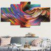 Colorful Abstract Space Printed Unframed Canvas Paintings - COLORFUL