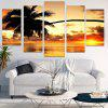 Coconut Tree Sunset Canvas Wall Art Paintings - COLORFUL