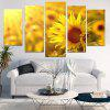 Sunflower Print Unframed Canvas Painting - GINGER