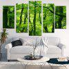 Fresh Forest Printed Decorative Split Canvas Paintings - GREEN