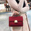 Buy Faux Leather Crossbody Bag Handle RED