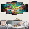 Colorful Bricks Wall Print Unframed Canvas Paintings - COLORFUL