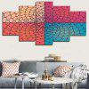 Artistic Flower Geometric Pattern Unframed Canvas Paintings - COLORFUL