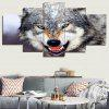 3D Wolf Printed Unframed Canvas Paintings - GRAY