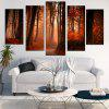 Maple Forest Pattern Unframed Canvas Paintings - BROWN