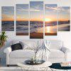 Sunset Beach Pattern Unframed Canvas Paintings - COLORFUL