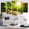 Woods Sunshine Wall Art Canvas Painting - VERDE