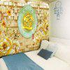 Buy Flower Oval Jade Plate Pattern Wall Tapestry COLORMIX