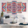 Bohemian Flower Print Unframed Split Canvas Paintings - COLORFUL
