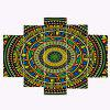 Bohemian Mandala Print Unframed Split Canvas Paintings - COLORFUL