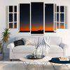 Nightsky Window Print Unframed Canvas Paintings - COLORFUL