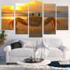 Sunset Beach Crab Unframed Split Canvas Paintings - COLORFUL
