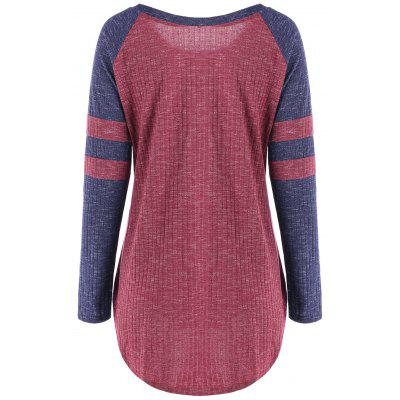 Ribbed Color Block Raglan Sleeve TopBlouses<br>Ribbed Color Block Raglan Sleeve Top<br><br>Collar: Scoop Neck<br>Material: Cotton, Polyester, Spandex<br>Package Contents: 1 x Top<br>Pattern Type: Others<br>Season: Fall, Spring<br>Shirt Length: Long<br>Sleeve Length: Full<br>Sleeve Type: Raglan Sleeve<br>Style: Casual<br>Weight: 0.3120kg